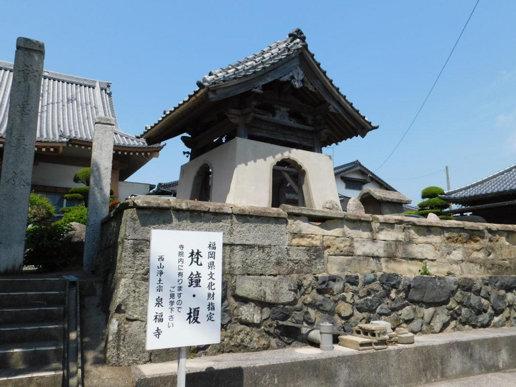 宗像市にある天然記念物・泉福寺の「榎」